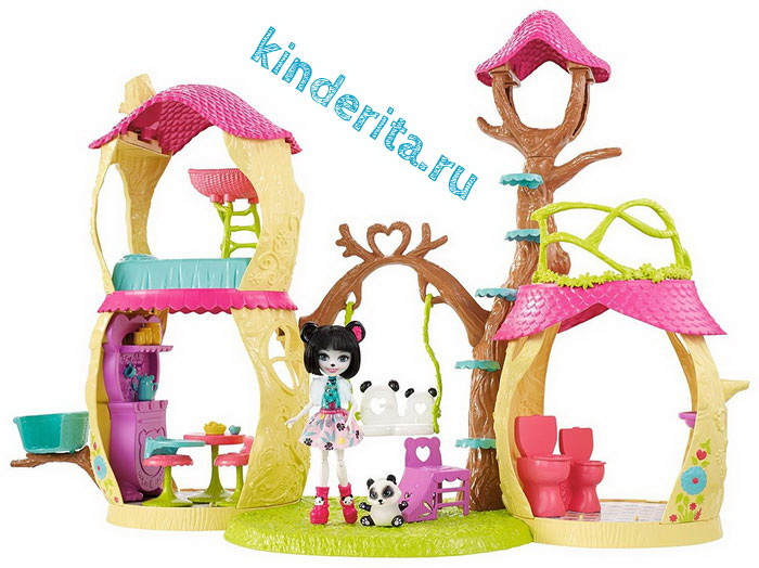 Лесной домик с куклой Прю и пандой