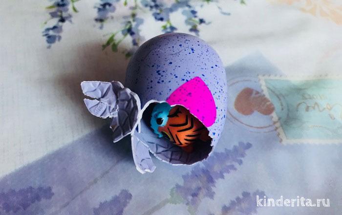 Хэтчималс — маленькие фигурки в яйце.